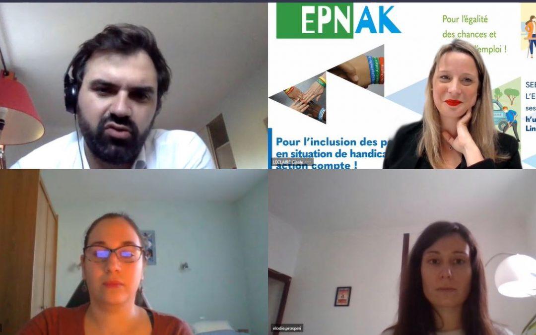SEEPH 2020 – La rencontre entre l'EPNAK, h'up entrepreneurs et Linklusion.