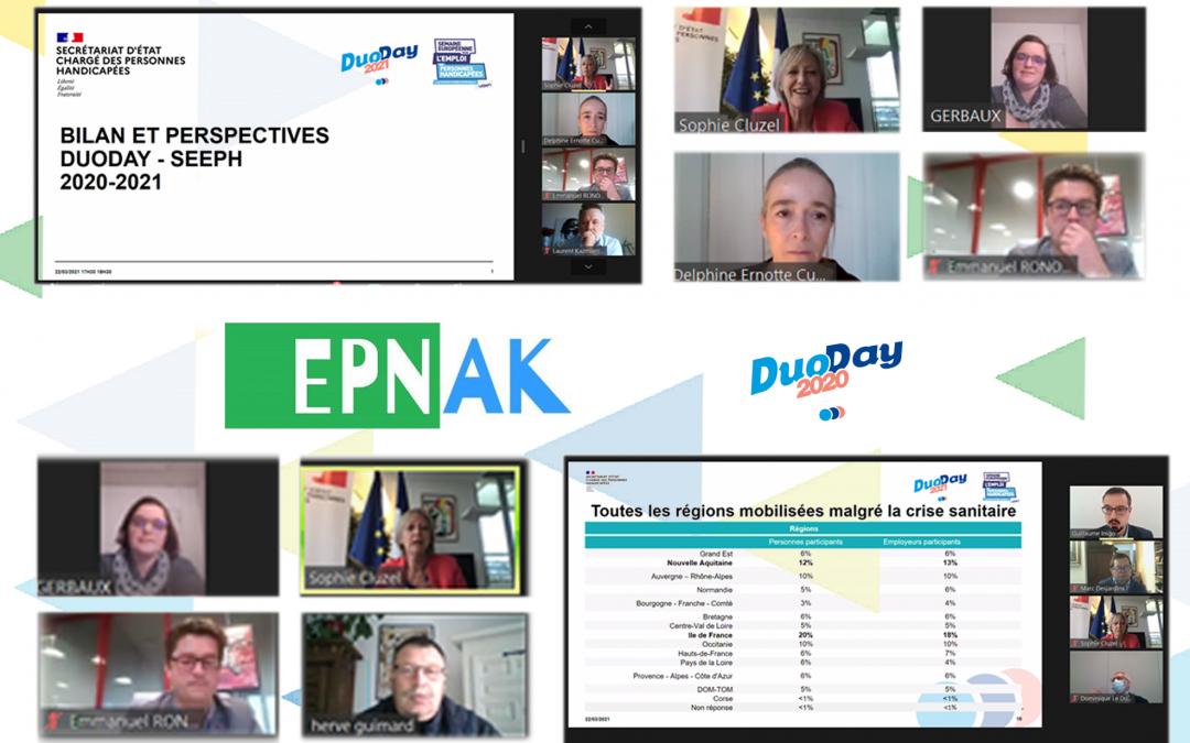 Bilan Duoday : Sophie Cluzel salue le travail de l'EPNAK !