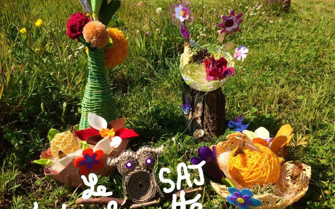 De belles réalisations au SAJ de Monéteau pour célébrer le printemps.