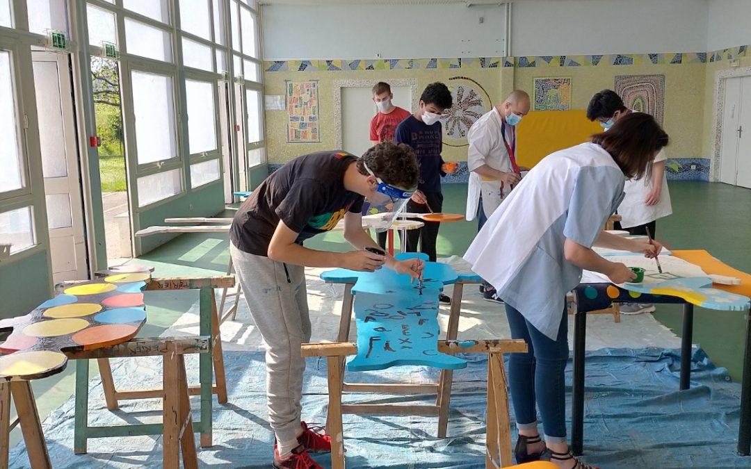Les jeunes du SESSAD de Sens s'investissent dans un projet artistique au cœur de la ville !