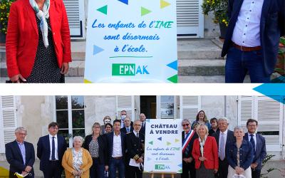 Sophie CLUZEL visite l'école 100% inclusion de l'EPNAK dans l'Yonne