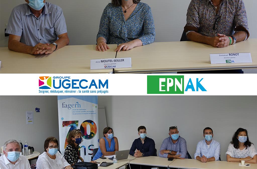 Le Groupe UGECAM et l'EPNAK signent une convention pour créer une plateforme numérique