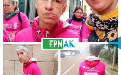 Claudine, polyhandicapée, a couru pour les Foulées Roses !
