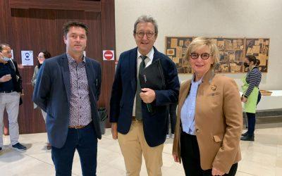 Le Directeur général et la Présidente du CA rencontrent Michel Laforcade